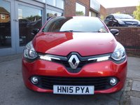 USED 2015 15 RENAULT CLIO 0.9 DYNAMIQUE S MEDIANAV ENERGY TCE S/S 5d 90 BHP £20 A YEAR ROAD TAX...SATELLITE NAVIGATION...BLUETOOTH...FSH