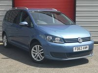 2013 VOLKSWAGEN TOURAN 2.0 SE TDI BLUEMOTION TECHNOLOGY 5d 138 BHP £9195.00