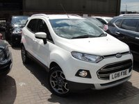 USED 2016 16 FORD ECOSPORT 1.0 TITANIUM 5d 124 BHP ANY PART EXCHANGE WELCOME, COUNTRY WIDE DELIVERY ARRANGED, HUGE SPEC