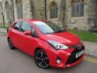 USED 2014 64 TOYOTA YARIS 1.3 VVT-I SPORT M-DRIVE S 5d AUTO 99 BHP + ONE OWNER + AUTOMATIC + LOW MILEAGE +