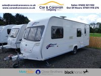 USED 2008 BAILEY PAGEANT BRETAGNE SERIES 6  6 BIRTH TOURING CARAVAN WITH FULL AWNING