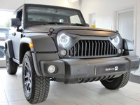 USED 2015 64 JEEP WRANGLER 3.6 V6 RUBICON 2d AUTO 280 BHP Fully Loaded, Matt Black Wrap, Quilted Leather, Nav, Rev Cam. Dealer + 2 owner Rubicon Wrangler in red wrapped Matt Black with Bespoke quilted, perforated and heated Nappa leather interior - black with red trim. This amazing Wrangler is the top the range Rubicon Off Road King. The specification includes LED Headlights with Halo DRL, Gladiator front grille, Satin-black Rubicon alloy wheels with Wrangler A/T tyres.