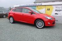 2012 FORD FOCUS 1.0 ZETEC 5d 99 BHP PETROL RED £5750.00
