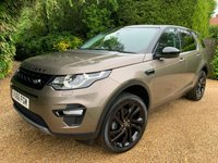 USED 2016 66 LAND ROVER DISCOVERY SPORT 2.0 TD4 HSE BLACK 5d AUTO 180 BHP 1 OWNER + BLACK PACK