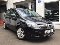 USED 2012 12 VAUXHALL ZAFIRA 1.6 EXCLUSIV 5d 113 BHP GREAT VALUE 7 SEATER ZAFIRA