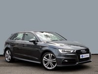 """USED 2013 13 AUDI A3 2.0 TDI S LINE 5d 148 BHP ONLY £20 A YEAR ROAD TAX......SAT NAV & XENON HEADLIGHTS with 18"""" 5 SPOKE ALLOYS......."""