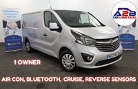 2017 VAUXHALL VIVARO 1.6 2700 SPORTIVE CDTI 120 BHP, Air Con, Bluetooth Connectivity, 1 Owner, Cruise control, Plylined, Euro 6 with AdBlu and more... £10980.00