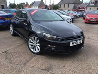USED 2010 10 VOLKSWAGEN SCIROCCO 2.0 GT TDI MANUAL 2d 170 BHP FULL SERVICE HISTORY - 8 STAMPS