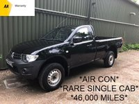 2010 MITSUBISHI L200 2.5 DI-D 4X4 4LIFE SINGLE CAB 134 BHP*AIR CON* £6995.00