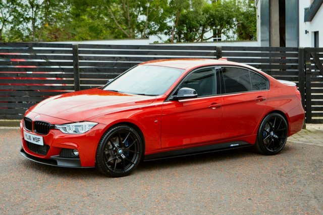 2016 16 BMW 3 SERIES 2.0 320D M SPORT PLUS 4d AUTO MELBOURNE RED