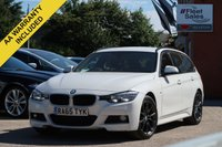 USED 2015 65 BMW 3 SERIES 2.0 320D M SPORT TOURING 5d 188 BHP SATELLITE NAVIGATION, FULL LEATHER + ELECTRIC TAILGATE