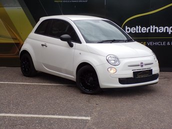 2012 FIAT 500 0.9 TWINAIR LOUNGE 3d 85 BHP AIR CON LEATHER 1 OWNER 28,000 £4475.00