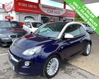 USED 2014 14 VAUXHALL ADAM 1.4 GLAM 3d 85 BHP *ONLY 25,000 MILES*