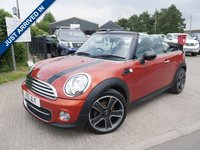 USED 2011 MINI CONVERTIBLE 1.6 COOPER D 2d 112 BHP FULL SERVICE HISTORY, LOW MILES, DIESEL, FULL LEATHER