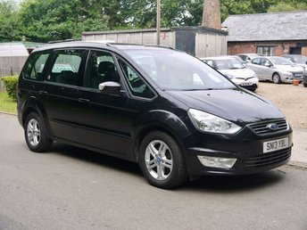 2013 FORD GALAXY 2.0 TDCI Zetec 5 Door 7 Seater MPV In Black Part Ex To Clear £2995.00