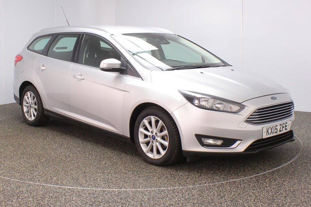 USED 2015 15 FORD FOCUS 1.5 TITANIUM TDCI 5DR 1 OWNER 118 BHP FULL SERVICE HISTORY + PARKING SENSOR + BLUETOOTH + CRUISE CONTROL + CLIMATE CONTROL + MULTI FUNCTION WHEEL + DAB RADIO + ELECTRIC WINDOWS + RADIO/CD/AUX/USB + ELECTRIC MIRRORS + 16 INCH ALLOY WHEELS