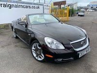 USED 2007 07 LEXUS SC 4.3L 430 2d AUTO 282 BHP 33000 Miles Full Service History+Navigation+Much More
