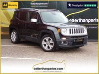 USED 2016 16 JEEP RENEGADE 1.6 M-JET LIMITED 5d 118 BHP 1 OWNER LEATHER SAT NAV 30,000 No Deposit Finance & Part Ex Available
