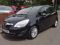 2012 VAUXHALL MERIVA 1.4 ACTIVE 5dr, 2 OWNERS £4995.00