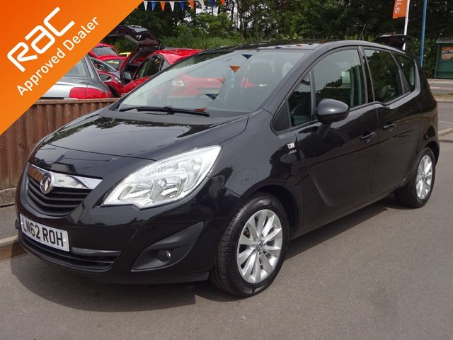 USED 2012 62 VAUXHALL MERIVA 1.4 ACTIVE MPV, 2 OWNERS *LOW MILEAGE*BLUETOOTH*CRUISE*AIR CON*USB*ALLOYS