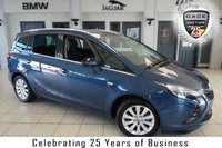 USED 2016 16 VAUXHALL ZAFIRA TOURER 1.4 SE 5d AUTO 138 BHP FINISHED IN STUNNING BLUE WITH HALF LEATHER SEATS + FULL VAUXHALL SERVICE HISTORY + BLUETOOTH + CRUISE CONTROL + AIR CONDITIONING + CLIMATE CONTROL + AUX/USB + PARKING SENSORS + ALLOY WHEELS