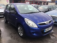 USED 2009 59 HYUNDAI I20 1.2 CLASSIC 5d 77 BHP 66000 miles, fsh, air/con, economical, low insurance.