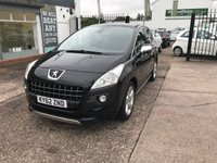 USED 2012 62 PEUGEOT 3008 1.6 ALLURE HDI FAP 5d 112 BHP FULL SERVICE HISTORY-DIESEL-PANORAMIC ROOF-ALLOYS-12 MONTHS MOT-REAR PARKING SENSORS
