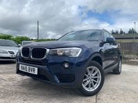 USED 2015 15 BMW X3 2.0 XDRIVE20D SE 5d 188 BHP DAB+LEATHERSTEERING+LEATHER+SATNAV+2KEYS+CLIMATE+CRUISE+HEATED SEATS+