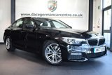 """USED 2017 17 BMW 5 SERIES 2.0 520D M SPORT 4DR AUTO 188 BHP full bmw service history * NO ADMIN FEES * FINISHED IN STUNNING SAPPHIRE METALLIC BLACK WITH FULL LEATHER INTERIOR + FULL BMW SERVICE HISTORY + SATELLITE NAVIGATION + BLUETOOTH + HEATED SEATS + DAB RADIO + ACTIVE GUARD + LED FOG LIGHTS + CRUISE CONTROL + PARKING SENSORS + 18"""" ALLOY WHEELS"""