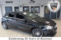 """USED 2014 64 MERCEDES-BENZ A CLASS 2.1 A200 CDI AMG SPORT 5d 136 BHP FINISHED IN STUNNING BLACK WITH HALF LEATHER SPORTS SEATS + FULL SERVICE HISTORY + SATELLLITE NAVIGATION + BLUETOOTH + SPEEDTRONIC CRUISE CONTROL + CLIMATE CONTROL + AIR CONDITIONING + 18"""" ALLOY WHEELS"""