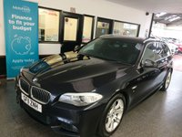 "USED 2011 11 BMW 5 SERIES 2.0 520D M SPORT TOURING 5d AUTO 181 BHP This 520d 2.0 M sport Touring Automatic is finished in black sapphire with full black leather dakota partially electric heated seats. Its fitted with tinted windscreen,  Navigation, Bluetooth, climate control, cruise control, LED auto lights, Xenons, auto wipers, Front & Rear Parking sensors,18"" alloy wheels, multi CD Stereo and more. It has had two owners and comes with an extensive service history consisting of 7 BMW stamps and 1 specialist stamps, last done at 121758 miles."