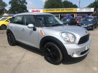 2011 MINI COUNTRYMAN 1.6 ONE 5d 98 BHP IN METALLIC SILVER WITH BLACK ALLOY WHEELS AND A FULL SERVICE HISTORY! £5499.00