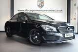 """USED 2013 10 MERCEDES-BENZ CLA 1.6 CLA180 AMG SPORT 4DR 122 BHP * NO ADMIN FEES * FINISHED IN STUNNING KOSMOS BLACK WITH HALF LEATHER INTERIOR + COMAND SATELLITE NAVIGATION + BLUETOOTH + REAR-VIEW CAMERA + BI-XENON HEADLAMPS + DIRECT START / ECO START/STOP FUNCTION + AMG STYLING PACKAGE-FRONT SPOILER, SIDE SKIRT + ACTIVE PARK ASSIST + 18"""" ALLOY WHEELS"""
