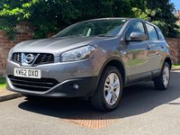 USED 2013 62 NISSAN QASHQAI 1.5 ACENTA DCI 5d 110 BHP FULL SERVICE HISTORY, MOT JUNE 20, ALLOYS, CLIMATE, BLUETOOTH, SENSORS,  RADIO CD, E/WINDOWS, R/LOCKING, FREE WARRANTY, FINANCE AVAILABLE, HPI CLEAR, PART EXCHANGE WELCOME,