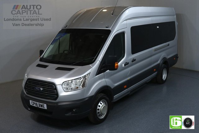 2018 18 FORD TRANSIT 2.2 460 TREND L4H3 JUMBO 124 BHP RWD EURO 6 ENGINE BUS 17 SEATS BUS, AIR CON, F-R PARKING SENSORS