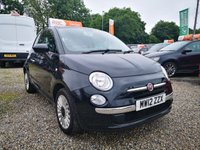 USED 2012 12 FIAT 500 1.2 LOUNGE 3d  £30 ROAD TAX-FINANCE AVAILABLE