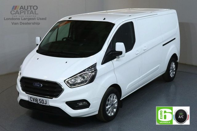 2018 18 FORD TRANSIT CUSTOM 2.0 300 LIMITED L2 H1 LWB AUTO 130 BHP EURO 6 ENGINE AIR CON, F-R PARKING SENSORS