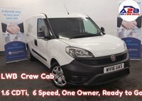 2016 FIAT DOBLO 1.6 16V MAXI MULTIJET COMBI CREW CAB 5 SEATS 105 BHP, Long Wheel Base, 49,204 Miles, One Company Owner from New, 2 Side Loading Doors £6980.00