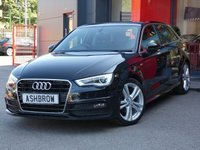USED 2015 65 AUDI A3 SPORTBACK 2.0 TDI S LINE 5d 150 S/S FULL AUDI SERVICE HISTORY, 1 OWNER FROM NEW, £20 ROAD TAX (109 G/KM), UPGRADE DE-BADGE FEATURE, MANUAL 6 SPEED, DAB RADIO, BLUETOOTH PHONE & MUSIC STREAMING, AUDI MUSIC INTERFACE (AMI), LED DAYTIME RUNNING LIGHTS, XENON HEADLIGHTS, 18 INCH TWIN 5 SPOKE ALLOY WHEELS, FRONT FOG LIGHTS, LEATHER FLAT BOTTOM MULTI FUNCTION STEERING WHEEL, BLACK 1/2 LEATHER INTERIOR, SPORT SEATS, DUAL CLIMATE AIR CONDITIONING, AUDI DRIVE SELECT, ILLUMINATING VANITY MIRRORS, CD HIFI WITH 2x SD CARD READERS, VAT Q