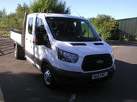 USED 2017 67 FORD TRANSIT 2.0 350 L3 H2 DRW 1d 129 BHP Double Cab Tipper - SOLD 38000 miles, Service History, 1 Owner, Manufacturers Warranty