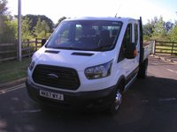 2017 FORD TRANSIT 2.0 350 L3 H2 DRW 1d 129 BHP Double Cab Tipper £16995.00