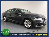 USED 2017 17 AUDI A5 2.0 TFSI SPORT 2d AUTO 188 BHP FULL AUDI HISTORY - 1 OWNER - SAT NAV - PARKING SENSORS - LEATHER - AIR CON - BLUETOOTH - DAB