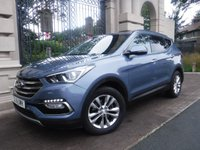USED 2016 16 HYUNDAI SANTA FE 2.2 CRDI PREMIUM BLUE DRIVE 5d 197 BHP ****FINANCE ARRANGED****PART EXCHANGE WELCOME***1 OWNER*FULL SH*BLACK LEATHER*PARKING SENSORS*HEATED SEATS*AUX*CLIMATE