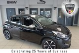 USED 2018 67 PEUGEOT 208 1.2 PURETECH ALLURE PREMIUM 5d 82 BHP FINISHED IN STUNNING BLACK WITH FULL CLOTH SEATS + FULL PEUGEOT SERVICE HISTORY + MIRROR LINK FOR SATELLITE NAVIGATION + ANDROID AUTO + APPLE CARPLAY + BLUETOOTH + DAB RADIO + CRUISE CONTROL + AIR CONDITIONING + PANORAMIC ROOF + REVERSE CAMERA + REAR PARKING SENSORS + DIAMOND CUT ALLOY WHEELS