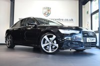 """USED 2015 15 AUDI A6 3.0 TDI QUATTRO BLACK EDITION 4DR AUTO 268 BHP [£8000 of optional extras] * NO ADMIN FEES * FINISHED IN STUNNING BLACK WITH FULL BLACK LEATHER INTERIOR + SATELLITE NAVIGATION + BLUETOOTH + REAR-VIEW CAMERA + ADVANCED TECHNOLOGY PACKAGE  + DAB RADIO MEMORY DRIVER'S SEAT+ BOSE SURROUND SOUND + CRUISE CONTROL + DUAL CLIMATE CONTROL + HEATED MIRRORS + PARKING SENSORS + 20"""" ALLOY WHEELS"""