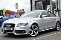 USED 2011 11 AUDI A4 2.0 TDI BLACK EDITION 4d 168 BHP STUNNING CAR WITH LOW MILEAGE & FSH INCLUDING 5 STAMPS!