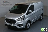 USED 2018 18 FORD TRANSIT CUSTOM 2.0 300 LIMITED L1 H1 SWB 129 BHP EURO 6 AIR CON  MANUFACTURER WARRANTY UNTIL 04/07/2021