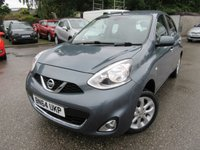 USED 2014 64 NISSAN MICRA 1.2 ACENTA 5d 79 BHP Only £30 to tax low miles service history Excellent condition Book a test drive today