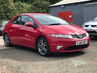 USED 2010 60 HONDA CIVIC 1.8 I-VTEC SI-T 5d 138 BHP NAVIGATION SYSTEM + HALF LEATHER + 17 INCH ALLOYS + FULL YEAR MOT + 2 PREVIOUS KEEPERS