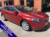 """USED 2013 62 VOLVO V40 2.0 D3 SE LUX 5DOOR AUTO 148 BHP DAB Radio   :   USB Socket   :   Automatic Headlights   :   Cruise Control / Speed limiter        Phone Bluetooth Connectivity   :   Climate Control / Air Conditioning   :   Heated Front Seats        Rear Parking Sensors   :   17"""" Alloy Wheels   :   2 Keys   :   Full Volvo Service History"""